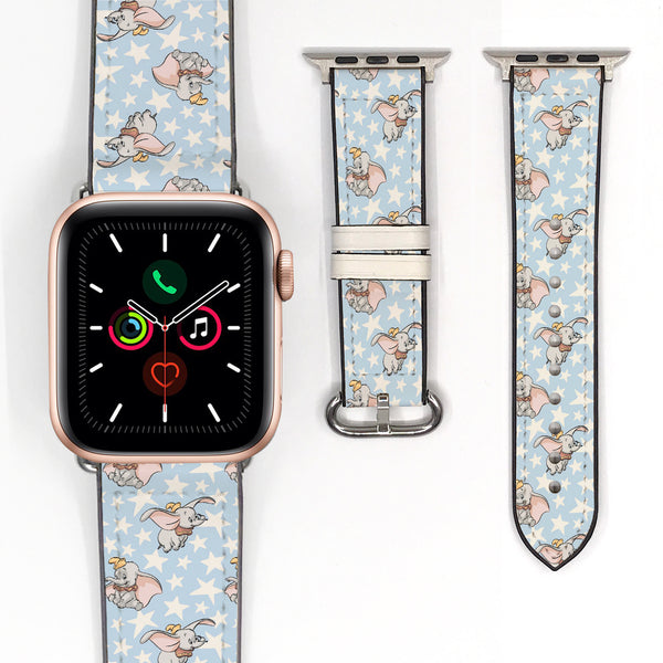 Disney Dumbo Inspired 38 40 42 44 mm Soft Silicon Sport Strap Apple Watch Band -v907