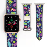 Disney Monster Inc Sully Boo & Mike Inspired 38 40 42 44 mm Soft Silicon Sport Strap Apple Watch Band -v909