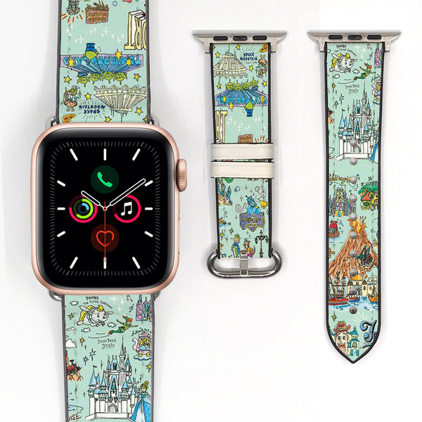 Disney Japan Theme Park Attractions Mickey Minnie Mouse Inspired 38 40 42 44 mm Soft Silicon Sport Strap Apple Watch Band -v910
