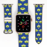 Disney Toy Story Space Aliens Inspired 38 40 42 44 mm Soft Silicon Sport Strap Apple Watch Band -v595