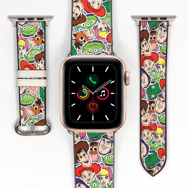 Disney Toy Story Inspired 38 40 42 44 mm Soft Silicon Sport Strap Apple Watch Band -v822