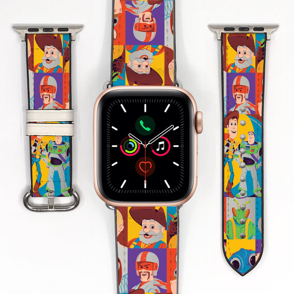 Disney Toy Story Buzz Lightyear Inspired 38 40 42 44 mm Soft Silicon Sport Strap Apple Watch Band -v976