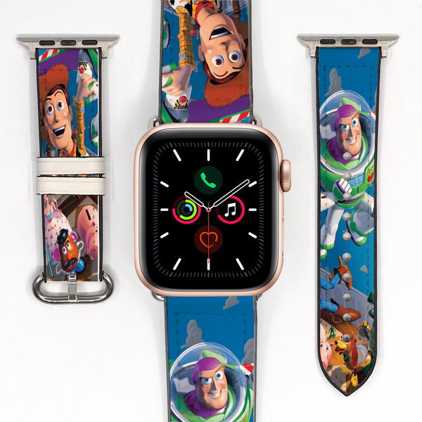 Disney Toy Story Woody & Buzz Lightyear Inspired 38 40 42 44 mm Soft Silicon Sport Strap Apple Watch Band -v977