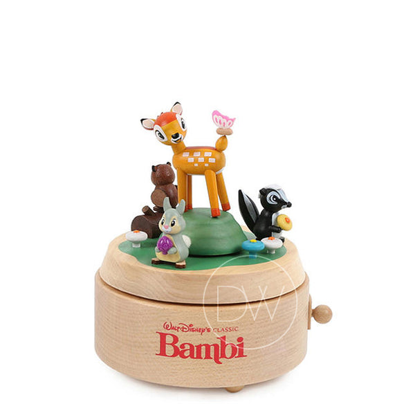 Disney Bambi Deer Wooden Merry Go Around Music Box