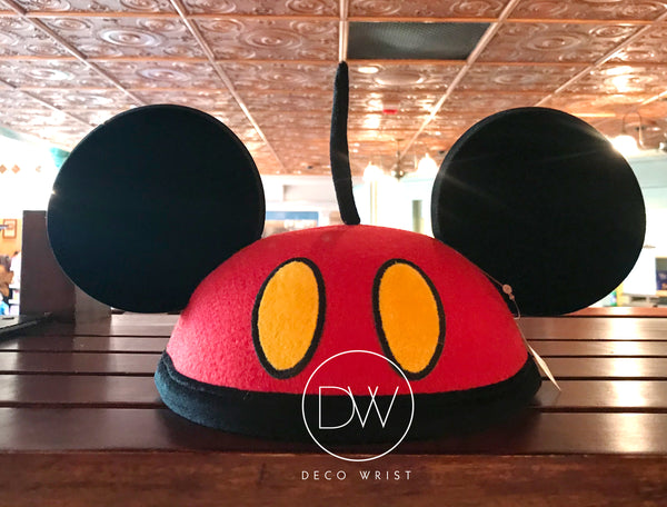 Authentic Disney Parks Mickey Mouse Red Black Mouse Ears Hat - Adult