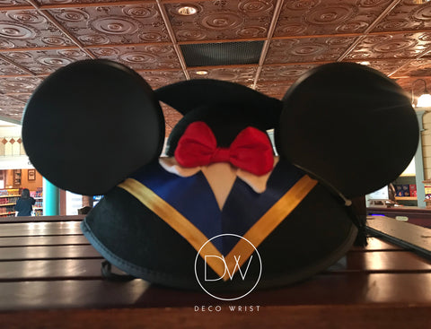 Authentic Disney Parks Mickey Mouse Graduation Mouse Ears Hat - Adult