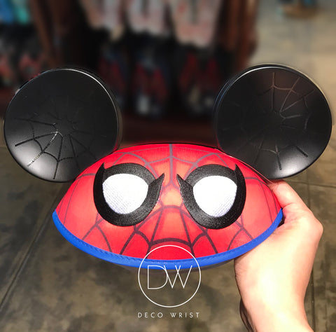 Authentic Disney Parks Marvel Hero Spiderman Red Mickey Ears Hat - Adult