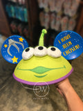 Authentic Disney Parks Pixar Toy Story Little Green Men Alien Claw Mickey Ears Hat - Adult