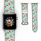 Disney Princess Ariel the little mermaid Inspired 38 40 42 44 mm Soft Silicon Sport Strap Apple Watch Band Green -v559