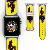 Disney Princess Ariel the little mermaid Inspired 38 40 42 44 mm Soft Silicon Sport Strap Apple Watch Band Moon -v16