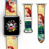 Disney Princess Ariel the little mermaid Inspired 38 40 42 44 mm Soft Silicon Sport Strap Apple Watch Band Moon -v163