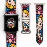 Disney Alice in the Wonderland Inspired 38 40 42 44 mm Soft Silicon Sport Strap Apple Watch Band -v460