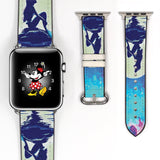 Disney Princess Ariel the little mermaid Inspired 38 40 42 44 mm Soft Silicon Sport Strap Apple Watch Band Moon -v497