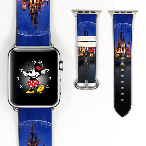 Disney Castle Inspired 38mm / 40mm, 42mm / 44mm Soft Silicon Sport Strap Apple Watch Band -v160