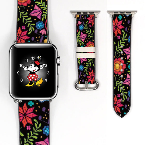 Disney pixar CoCo 38 40 42 44 mm Floral Flower Soft Silicon Sport Strap Apple Watch Band