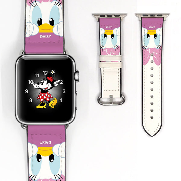 Disney Daisy Duck Inspired 38 40 42 44 mm Soft Silicon Sport Strap Apple Watch Band -v110