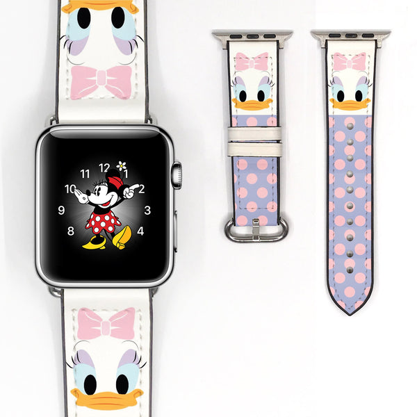 Disney Daisy Duck Inspired 38 40 42 44 mm Soft Silicon Sport Strap Apple Watch Band -v112