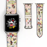 Disney Mickey Minnie Mouse Castle Inspired 38 40 42 44 mm walk in the park Soft Silicon Sport Strap Apple Watch Band -v659