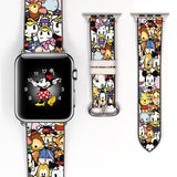 Disney Mickey Mouse and Friend Inspired 38 40 42 44 mm Soft Silicon Sport Strap Apple Watch Band -v632