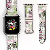 Disney Theme Park Walk in the park dooney bourke style Mickey Mouse Red Black Inspired Apple Watch band for 38mm / 40mm, 42mm / 44mm