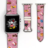Disney Dogs Puppies dooney bourke style - stitch, pluto, max, 101 dalmatians , little brother, bolt, lady and the tramp Inspired Apple Watch band for 38mm / 40mm, 42mm / 44mm