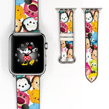 Disney Mickey Mouse and Friend Inspired 38 40 42 44 mm Soft Silicon Sport Strap Apple Watch Band -v113