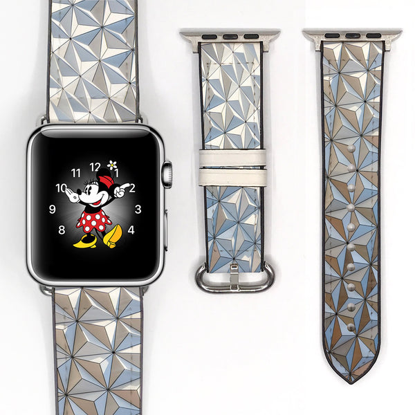 Disney space Epcot 38 40 42 44 mm walk in the park Soft Silicon Sport Strap Apple Watch Band -v714