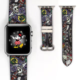 Mosaic Disney Villains Jack skellington Inspired 38 40 42 44 mm Soft Silicon Sport Strap Apple Watch Band -v153