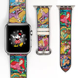 Disney Princess Inspired 38 40 42 44 mm Soft Silicon Sport Strap Apple Watch Band -v864