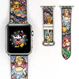 Disney Princess Ariel cinderella Inspired 38 40 42 44mm Apple Watch Band -v859