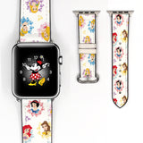 Disney Princess Inspired 38 40 42 44 mm Soft Silicon Sport Strap Apple Watch Band -v858