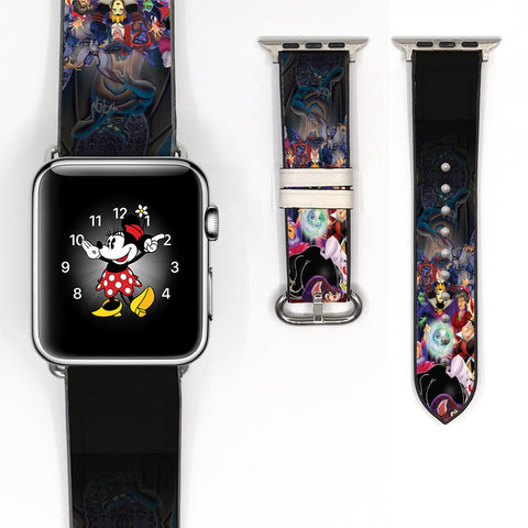 Disney Villains Inspired 38 40 42 44 mm Soft Silicon Sport Strap Apple Watch Band -v480