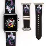 Disney Villains 38 40 42 44 mm Ursula Soft Silicon Sport Strap Apple Watch Band -v567