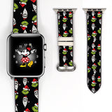 Disney Villains Jack skellington Inspired 38 40 42 44 mm Soft Silicon Sport Strap Apple Watch Band -v877