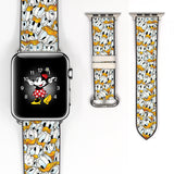 Disney Donald Duck Inspired 38 40 42 44 mm Soft Silicon Sport Strap Apple Watch Band -v514