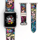 Disney Princess Elsa Anna Frozen Inspired 38 40 42 44 mm Soft Silicon Sport Strap Apple Watch Band -v149