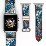 Stained glass Finding nemo dory Inspired 38 40 42 44 mm Soft Silicon Sport Strap Apple Watch Band -v154