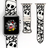 Disney Villains Jack skellington Inspired 38 40 42 44 mm Soft Silicon Sport Strap Apple Watch Band -v520
