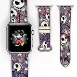 Disney Villains Jack skellington Inspired 38 40 42 44 mm Soft Silicon Sport Strap Apple Watch Band -v541