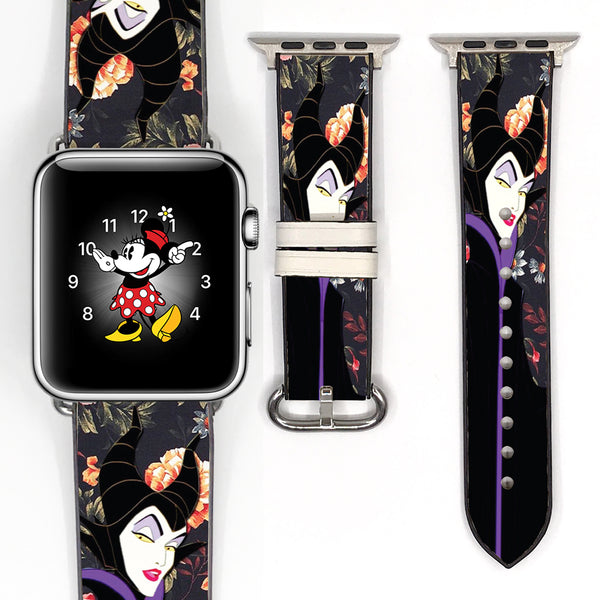Disney Villains Maleficent Inspired 38 40 42 44 mm Soft Silicon Sport Strap Apple Watch Band -v562