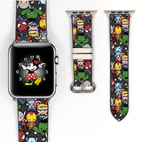 Disney Marvel super heroes Inspired 38 40 42 44 mm Soft Silicon Sport Strap Apple Watch Band -v833
