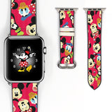 Disney Mickey Mouse and Friend Inspired 38 40 42 44 mm Soft Silicon Sport Strap Apple Watch Band -v554