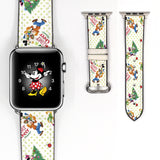 Disney Mickey Mouse and Friend Christmas Inspired 38 40 42 44 mm Soft Silicon Sport Strap Apple Watch Band -v863