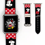Disney Minnie Mouse Inspired 38 40 42 44 mm Soft Silicon Sport Strap Apple Watch Band Red -v667