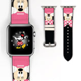 Disney Minnie Mouse Inspired 38 40 42 44 mm Soft Silicon Sport Strap Apple Watch Band Pink -v111