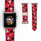 Disney Vintage Minnie Mouse Inspired 38 40 42 44 mm Soft Silicon Sport Strap Apple Watch Band Red -v406