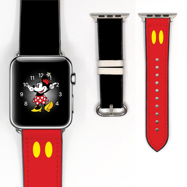 Disney Mickey Mouse Inspired 38 40 42 44 mm Soft Silicon Sport Strap Apple Watch Band -v052
