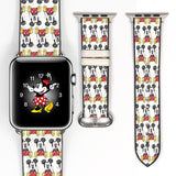 Disney Mickey Mouse Inspired 38 40 42 44 mm Soft Silicon Sport Strap Apple Watch Band -v35