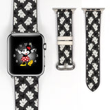 Disney Mickey Mouse Inspired 38 40 42 44 mm Soft Silicon Sport Strap Apple Watch Band Black Red -v029