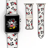 Disney Mickey Mouse Inspired 38 40 42 44 mm Soft Silicon Sport Strap Apple Watch Band -v536